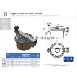 Mangat deksel drukloos – serie 33 / (ROD33-150) - (ROD33-230) - (ROD33-330) - (ROD33-430) - (ROD33-530) - (ROD33-630)